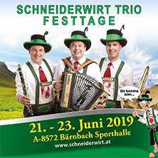 Schneiderwirt Trio Festtage @ Sporthalle Bärnbach | Bärnbach | Steiermark | Österreich